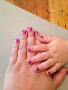 Mommy and Me - matching Jams, matching chubby digits :)