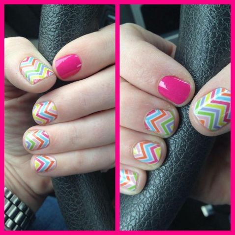 Candy Chevron with Kiss Lacquer