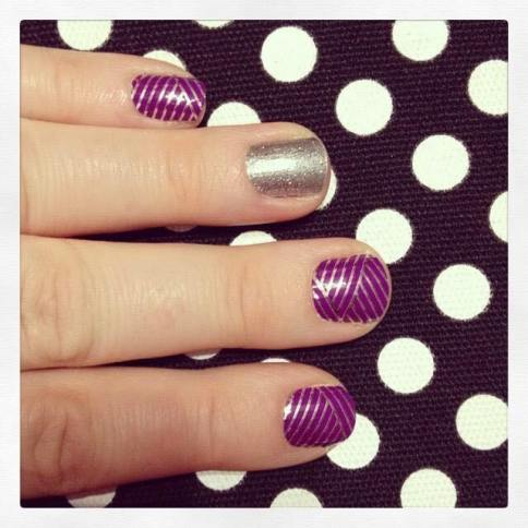 Purple Silver Criss Cross 2