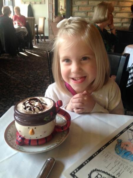 Amelia and Hot Chocolate- Yum